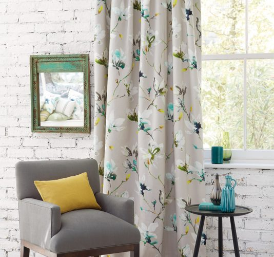 second hand curtains by Romo
