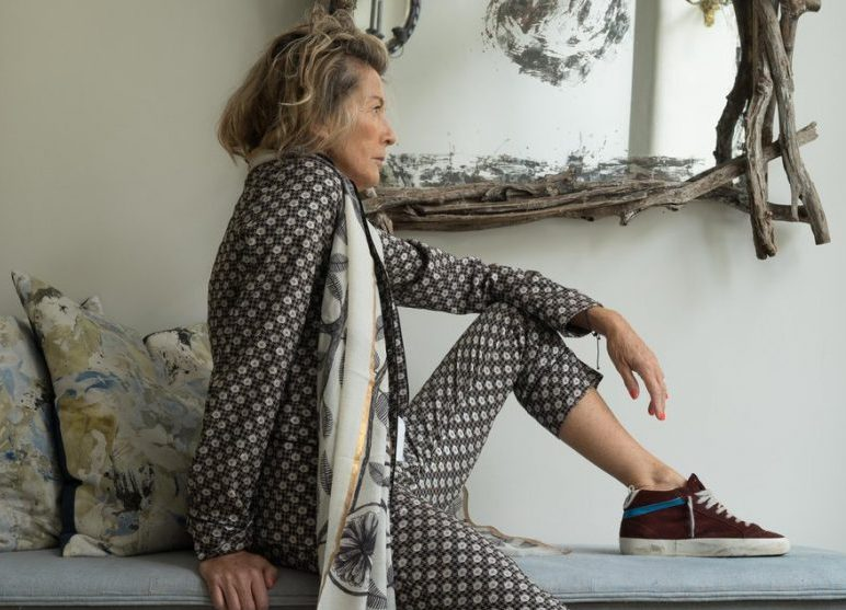 fashion boutique tetbury anna lizzio modeling trouser suit