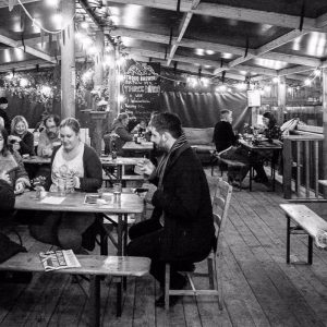 people drinking at Stroud Brewery bar
