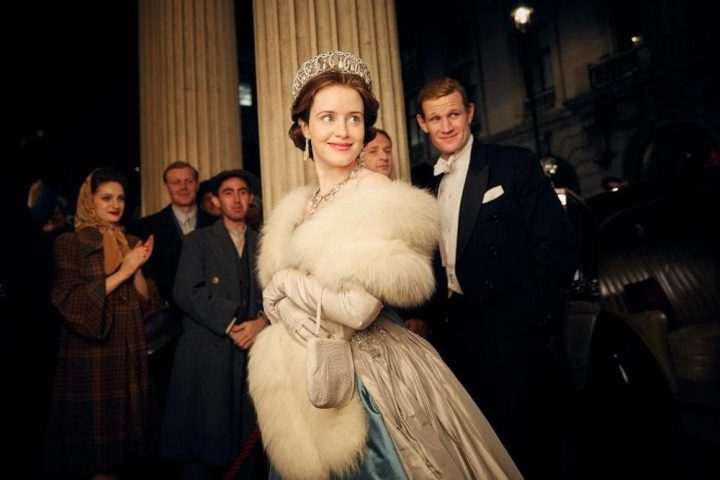 Claire Foy as Queen Elizabeth and Matt Smith as Prince Philip in The Crown