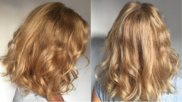 organic hair colour blonde hair after organic highlights