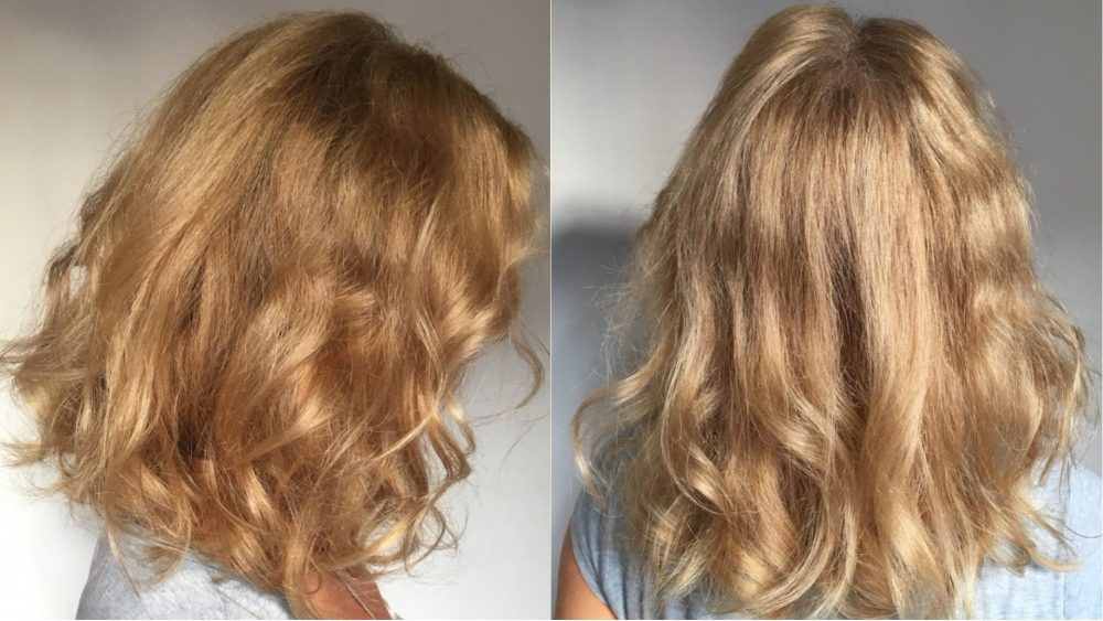blonde hair after organic highlights