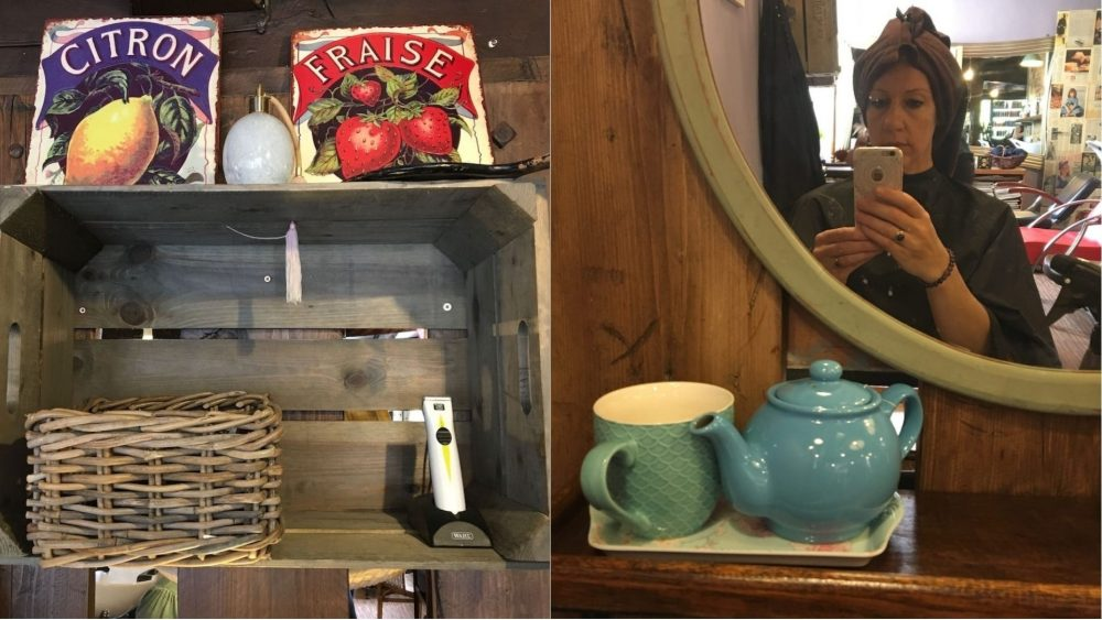 interior details Harriet's Organic teacup and teapot