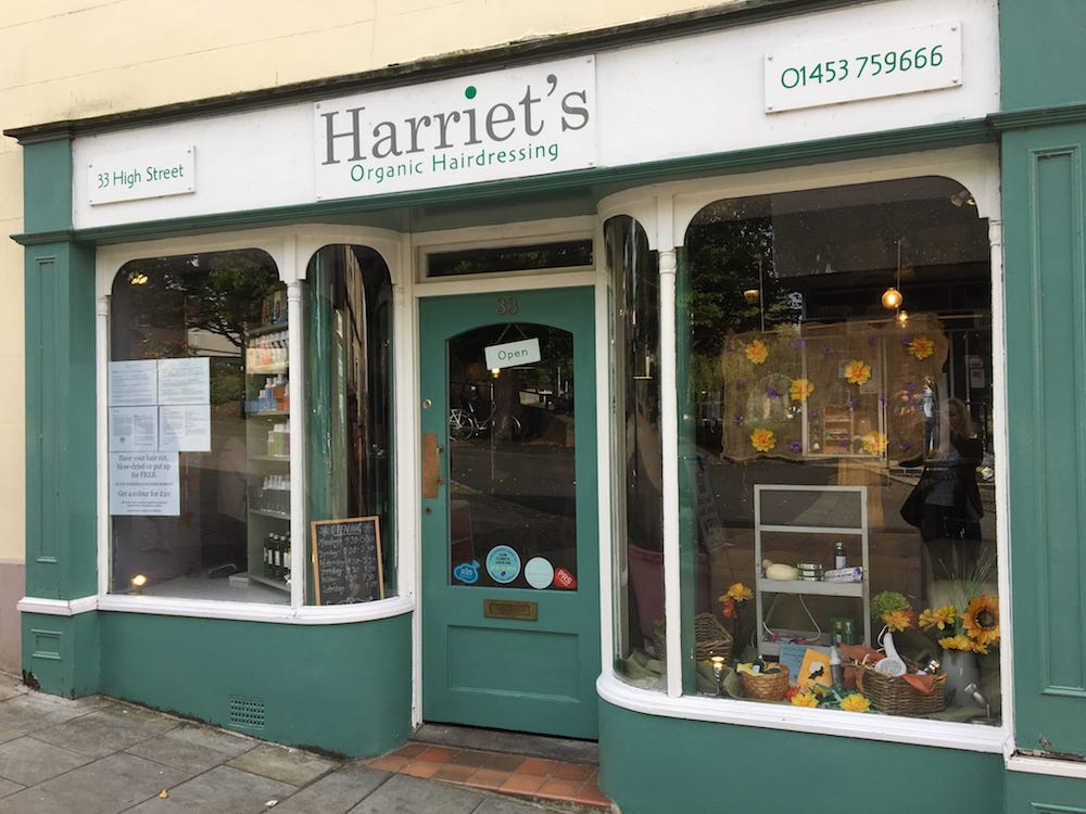 Harriet's Organic Hairdressing Stroud exterior