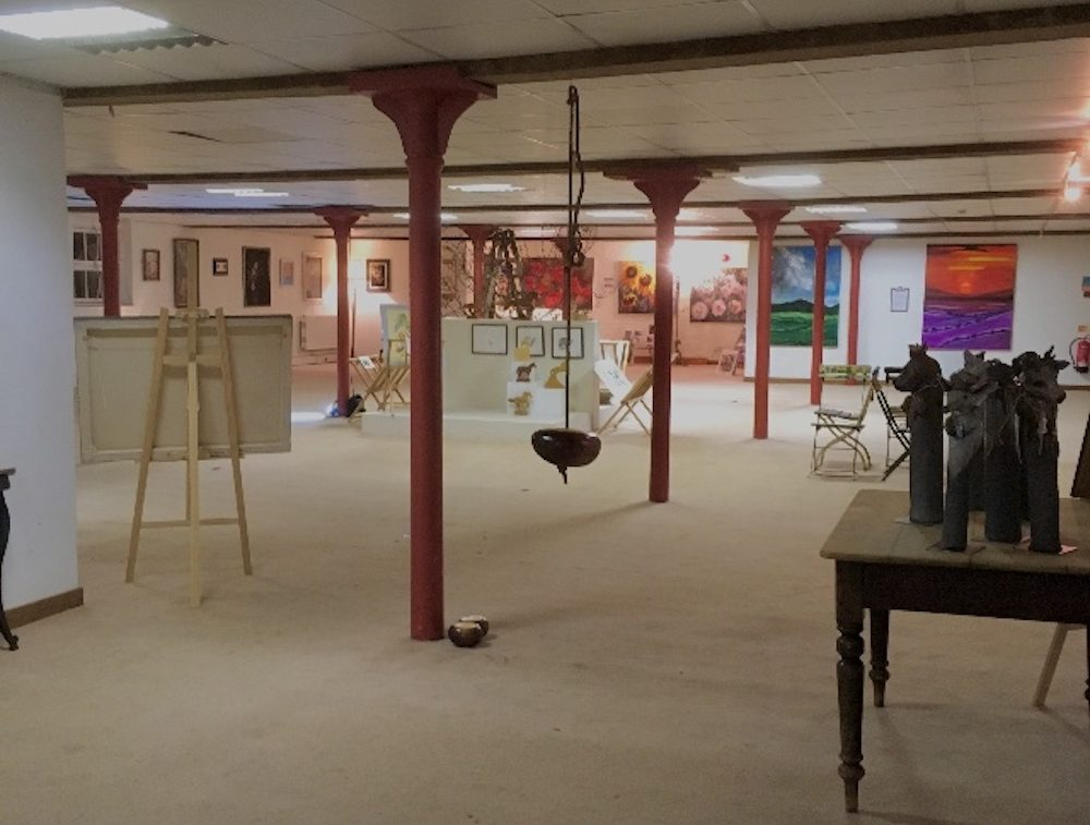 upstairs gallery space at Malthouse Collective