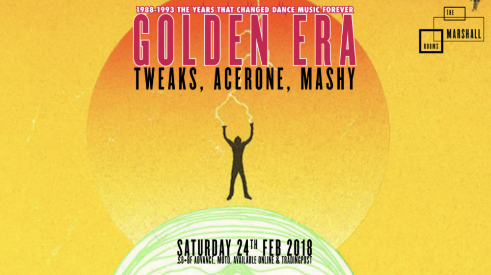 poster for The Marshall Rooms The Golden Era night