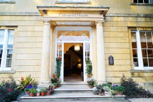Georgian Cotswold stone entrance