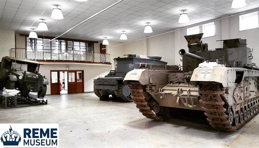 tanks in a museum