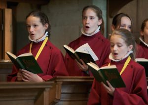 GIRLS SINGING CHOIR RED ROBES