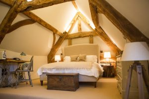 double bed beams lights