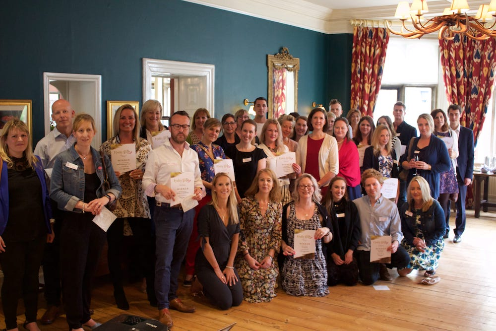 group shot winners for Muddy Glos and Wilts awards 2018