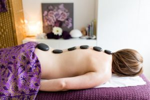 hot stones massage back