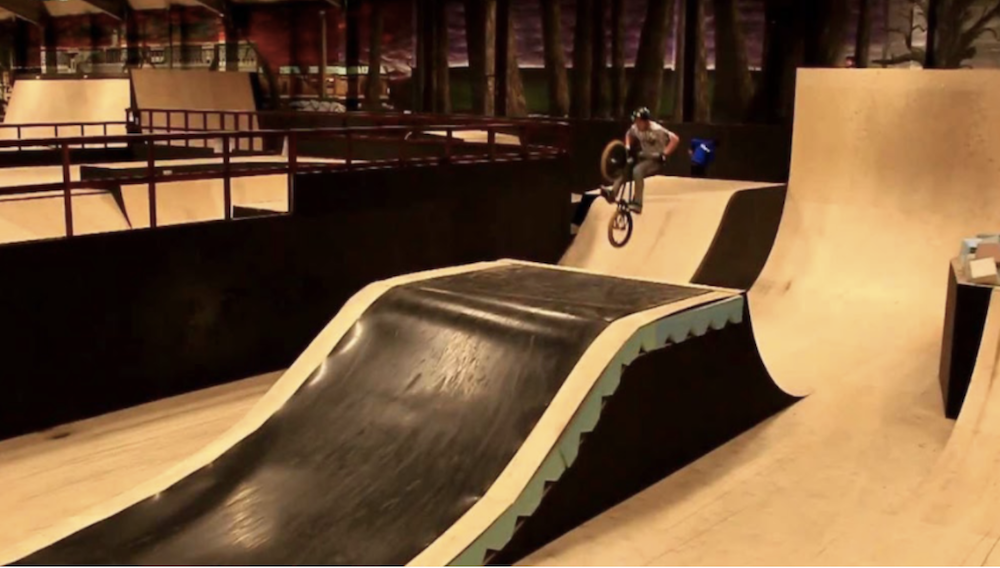 bmx ramp teenager