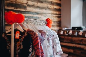 rail of kids' designer clothes