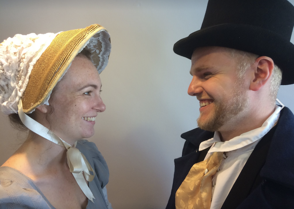 actors man woman top hat bonnet jane austen emma