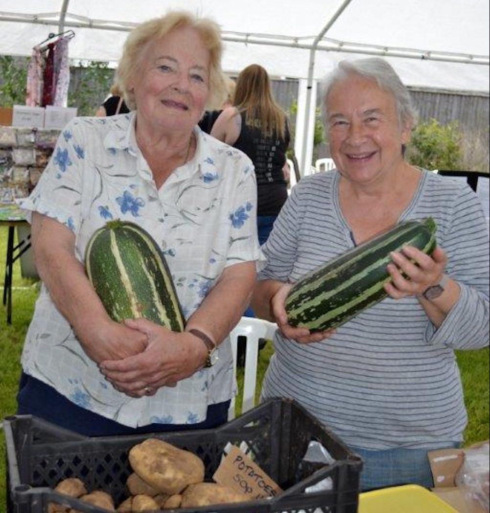 big marrows, two ladies,