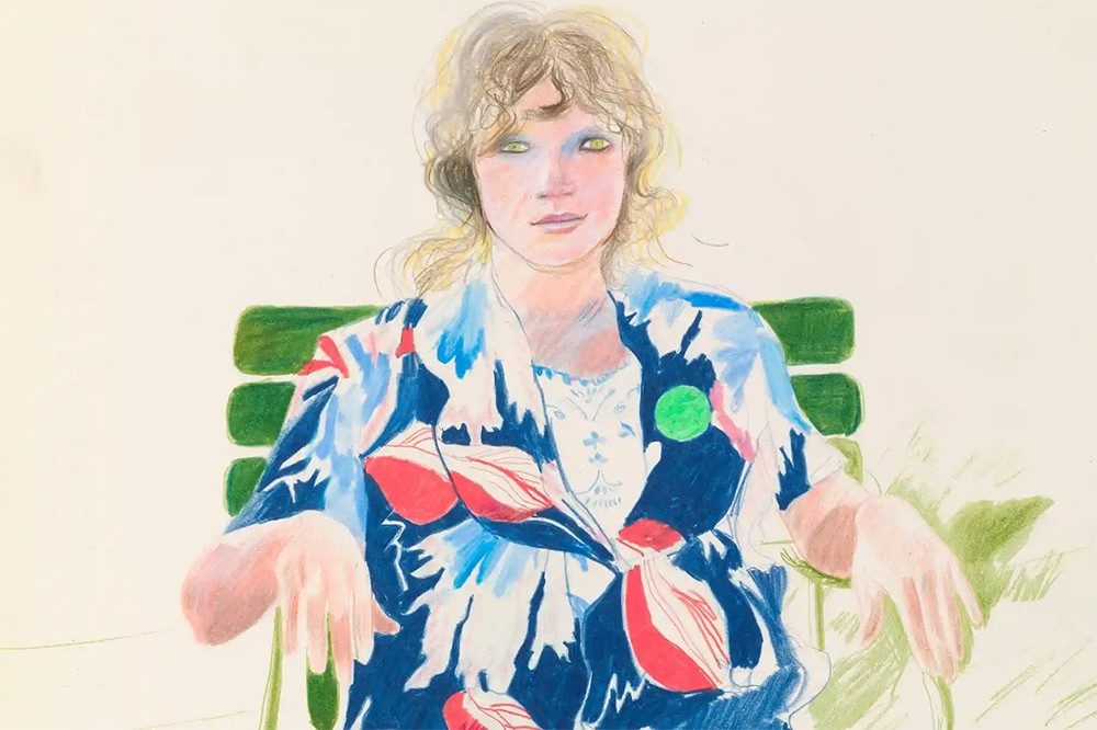 david hockney woman chair