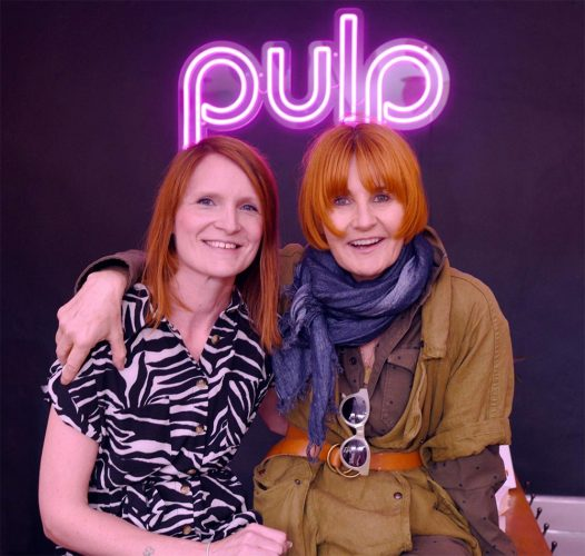 mary and charlotte infront of pulp